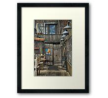Off the Dock Framed Print