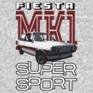 Ford Fiesta Super-Sport Classic Car T-shirts by ImageMonkey