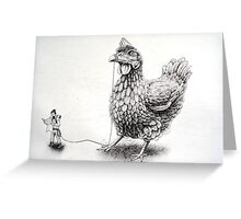 one giant chicken Greeting Card