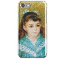 Auguste Renoir - Portrait of a Young Girl Elisabeth Maître, 1879  iPhone Case/Skin