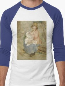Auguste Renoir - Maternity 1885 Woman Portrait Men's Baseball ¾ T-Shirt