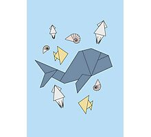 Under the sea - Pattern w/ Origami (multiple layouts) Photographic Print