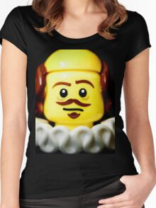William Shakespeare in Lego form!! Women's Fitted Scoop T-Shirt