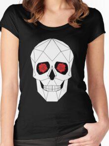 Geometric Skull Women's Fitted Scoop T-Shirt