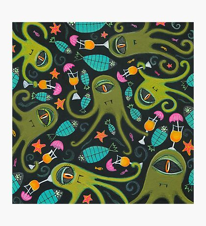 Sea Monster Party Photographic Print