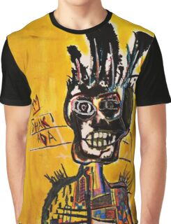 Basquiat African Skull Man Graphic T-Shirt