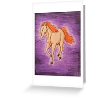 Red Gold Greeting Card