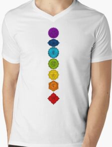 The seven chakras Mens V-Neck T-Shirt