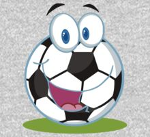 Cartoon soccer smiley ball Kids Tee