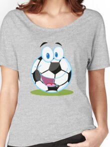Cartoon soccer smiley ball Women's Relaxed Fit T-Shirt