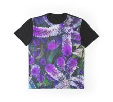 Peculiar Purple Plant Graphic T-Shirt