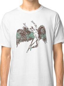 ICARUS THROWS THE HORNS - aqua grunge Classic T-Shirt