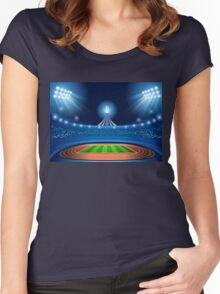 Stadium Background 2016 Summer Games Women's Fitted Scoop T-Shirt
