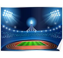 Stadium Background 2016 Summer Games Poster