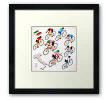 Cyclists Giro Italia Framed Print