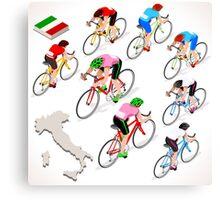 Cyclists Giro Italia Canvas Print