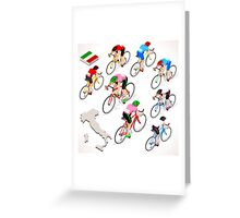 Cyclists Giro Italia Greeting Card