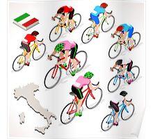 Cyclists Giro Italia Poster