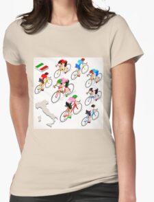 Cyclists Giro Italia Womens Fitted T-Shirt