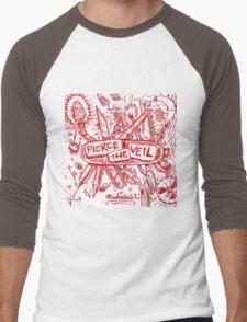 Pierce the veil misadventures album cover Men's Baseball ¾ T-Shirt