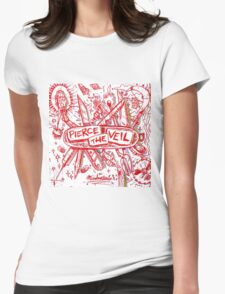 Pierce the veil misadventures album cover Womens Fitted T-Shirt