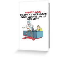 rick and morty under arrest Greeting Card