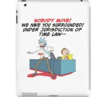 rick and morty under arrest iPad Case/Skin