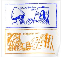 Classical or modern art ? Poster