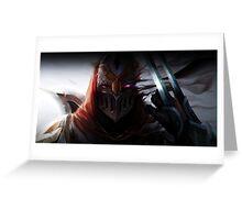 Zed - Shadow Greeting Card