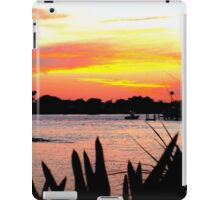 Bird of paradise leaves in silhouette iPad Case/Skin