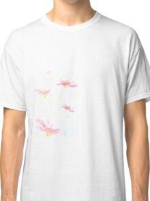 Pink Blue Flower Classic T-Shirt