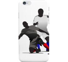 Football players kicking iPhone Case/Skin