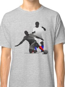 Football players kicking Classic T-Shirt