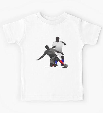 Football players kicking Kids Tee