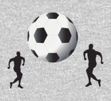 Football players and huge ball art One Piece - Short Sleeve