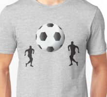 Football players and huge ball art Unisex T-Shirt