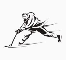 Ice hockey players silhouette Kids Tee