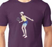 Girl playing tennis sport Unisex T-Shirt