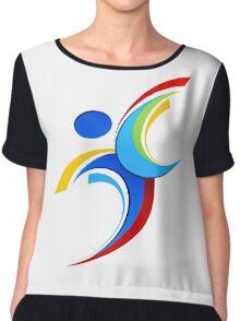 Sport logo design Chiffon Top