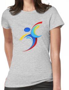 Sport logo design Womens Fitted T-Shirt