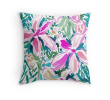PLUMERIA PARADISE Throw Pillow