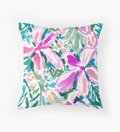 PLUMERIA PARADISE Throw Pillow