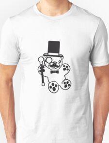 sir mr gentlemen cylinder stock monokel glasses nobility rich funny hat sweet cute comic bear taddy Unisex T-Shirt