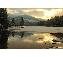 Icy Loch Photographic Print