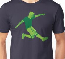 Green football player Unisex T-Shirt