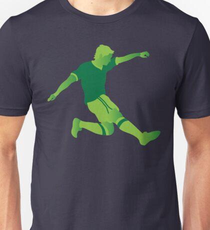 Green football player Unisex T-Shirt