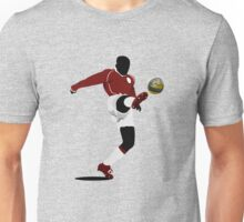 Playing soccer shot Unisex T-Shirt