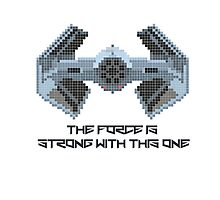 The Force is strong with 8-bit. Photographic Print