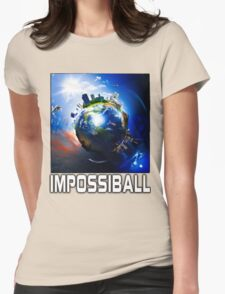 Flat Earth Impossiball Womens Fitted T-Shirt