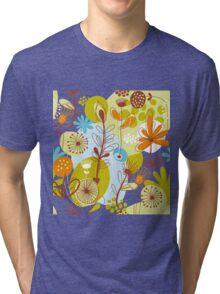 Retro Floral Tri-blend T-Shirt
